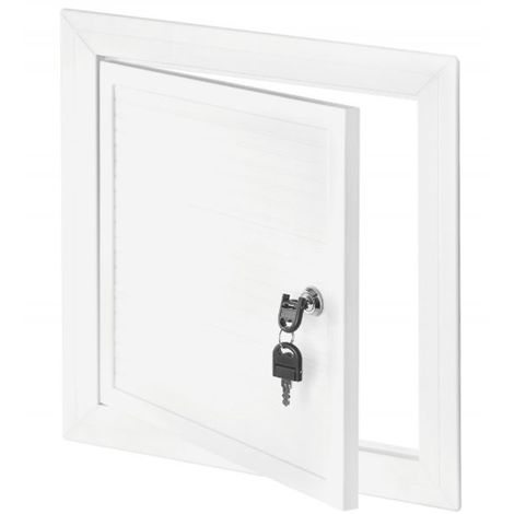 250x350mm White PVC Chamber Cover Inspection Door Access Panel with Key Lock