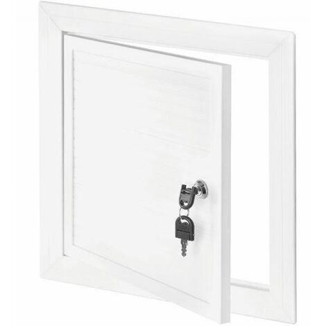 250x500mm Blanc PVC Couvercle Chambre D'inspection Panneau Accès Serrure Clé
