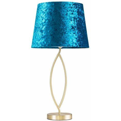 25300 Kingdom Large Matt Gold TL+24803 NE Large Aspen Velvet Mid Blue TPD Shade+6W E27