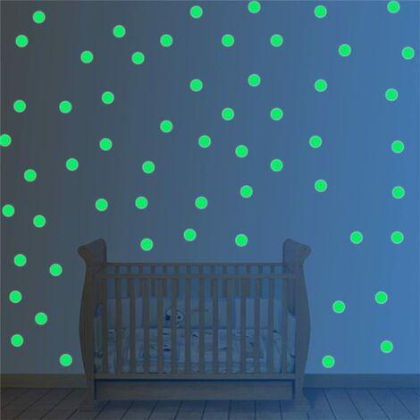 253Pcs Stickers Etoile Fluorescente Sticker Lumineux Chambre Pour Décoration Maison ou Plafond Fluorescent, Parfait Cadeau d'anniversaire