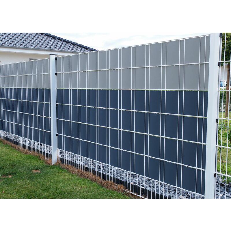 Zaun Sichtschutz 35 m Doppelstabmattenzaun Sichtschutzstreifen PP Hemmdal
