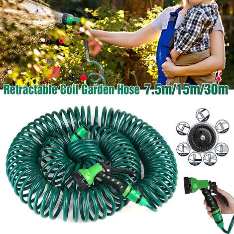 25FT 50FT 100FT (30M 100ft) Garden Garden Hose Extendable Flexible Spray Nozzle