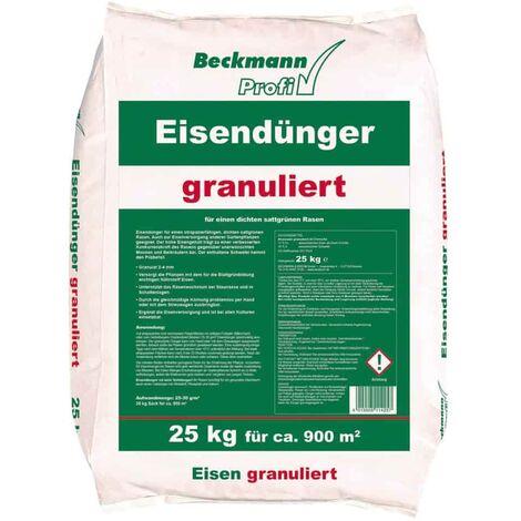 25kg granulierter Beckmann Eisendünger 2-4mm f. ca. 900m²