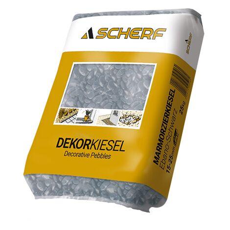 25Kg SCHERF-Marmor Zierkies Ebano-Schwarz 15-25mm