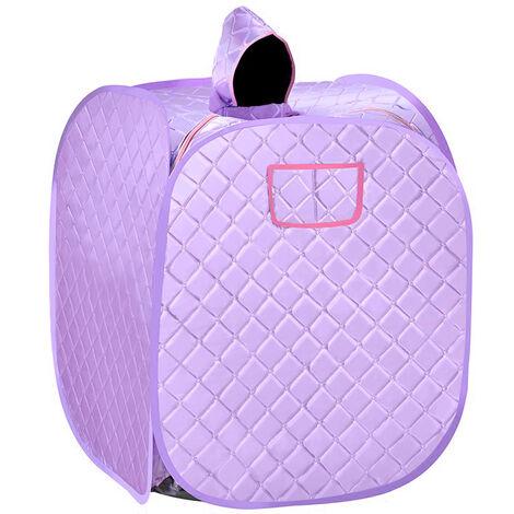 2.5L Boîte de sauna domestique Boîte de fumigation à moteur à vapeur Boîte à vapeur Sauna à vapeur Boîte à sueur Sauna Spa SPA - violet clair(Utilisation par une personne) - Violet clair