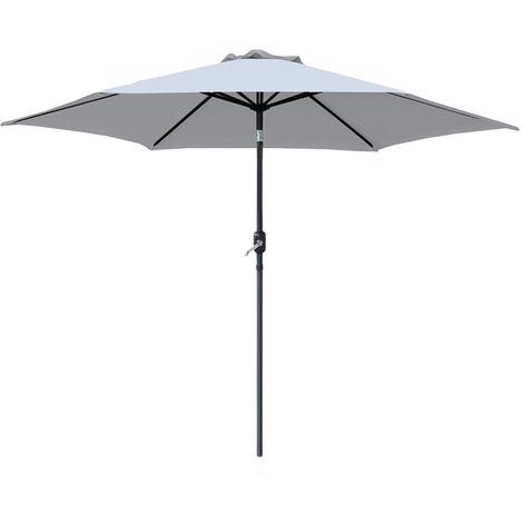 2.5M 2.7M 3M Round Garden Parasol Sun Shade Outdoor Patio Umbrella W/ Crank Tilt