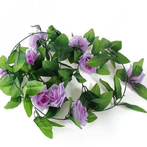 2.5m Artificial Flower Vine Ivy Garland Rose Home Wedding Decoration E