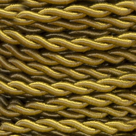 25m. cable decorativo trenzado oro 2x0,75mm2 (Cordón D\'or 0901210-D)