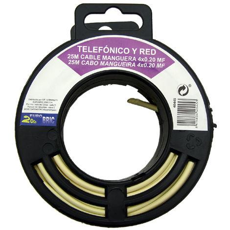 25m cable manguera telefónico 4 hilos