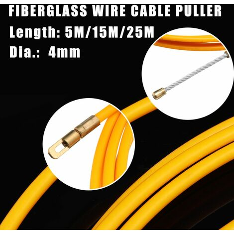 25M length x 4mm diameter. & Nbsp; Drilling device for fiberglass cable extractor tube (25m)