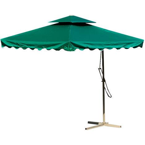 2.5m Outdoor Patio Sun Shade Hanging Umbrella Waterproof darkgreen