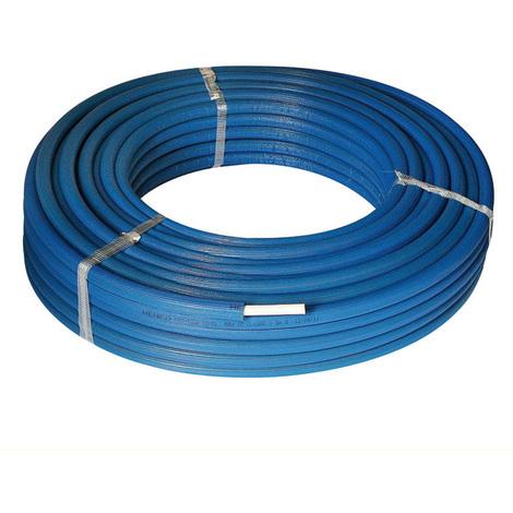 25M Tube multicouche isolé bleu - Ø16x2,0 - Alu 0,2mm - Henco