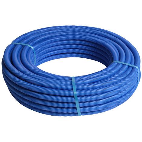 25M Tube multicouche pré-gainé bleu - Ø26x3,0 - Alu 0,5mm - Henco