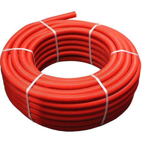 25M Tube multicouche pré-gainé rouge - Ø26x3,0 - Alu 0,28mm - Henco