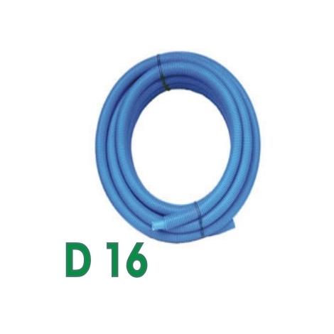 25m Tube PER prégainé Somatherm Bleu DN16
