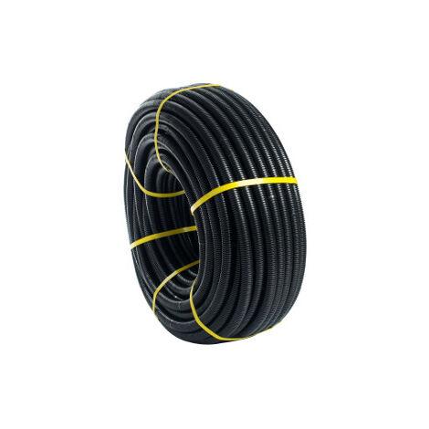 25m. Tubo corrugado Flexiplast 16mm. Negro