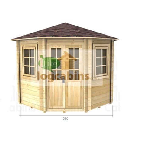 """main image of """"2.5m x 2.5m Log Cabin (2036) - Double Glazing (34mm Wall Thickness)"""""""