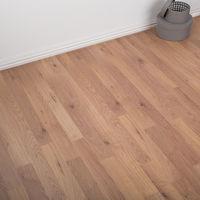 2.5m2 - Heavy Domestic Use Kitchen/Bedroom/Hallway Simple Click AC3 Laminate Flooring - Oak 6mm