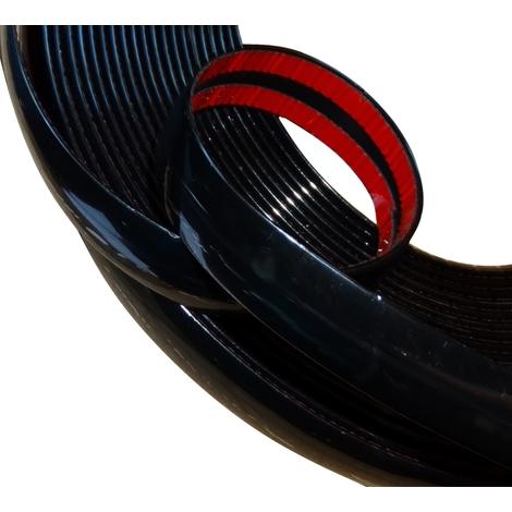 25mm 4.5m Bande baguette adhésive couleur noir