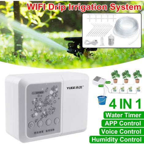25Pcs 10M Tuyau D'Arrosage Automatique Système D'Irrigation Goutte À Goutte Wifi App Minuterie Jardin
