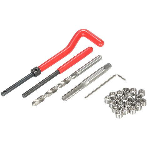 25Pcs / Set M6 Fil Repair Tool Set Helicoil-Type Endommage Fil Kit De Reparation Master Pour Les Reparations Automobile