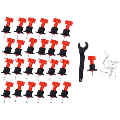 25pcs / Set, Nivel cunas Espaciadores del azulejo, para azulejo pared Nivelador Localizador espaciadores aguja de acero desmontable