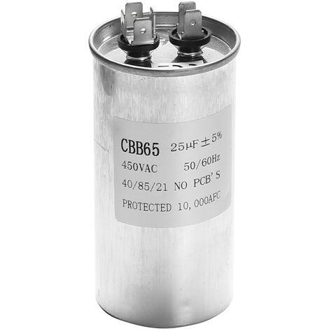 25UF CBB65 450V AC 50 / 60Hz Conditionneur d'air Compresseur Compresseur Compresseur (25UF)