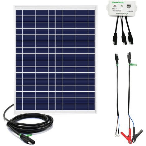 25W 12V solar kit 25W solar panel + 3A Controller With USB port for charging