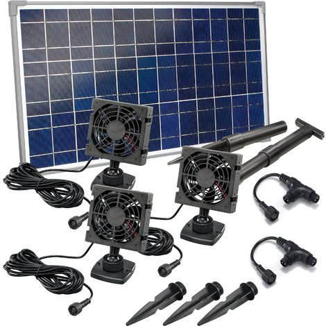 20W Solarlüfter Solar Gewächshaus Lüfter Ventilator Belüftungssystem Gartenhaus