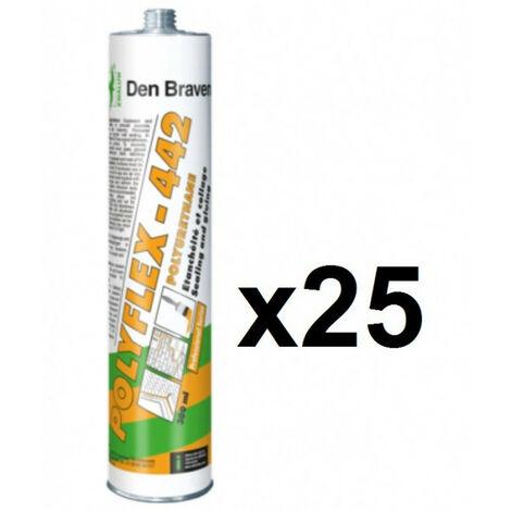 25x cartouches mastic colle polyuréthane 300ml Polyflex 442 DEN BRAVEN - plusieurs modèles disponibles