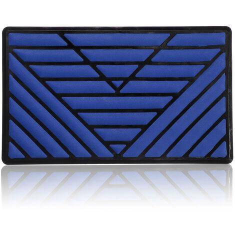 25x15cm talon pad voiture repose-pieds pédale plaque tapis de sol tapis trou couverture style (bleu)