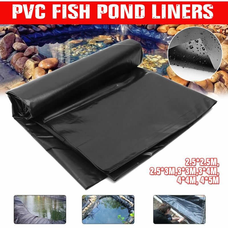 2.5x2.5m à 4x5m doublure d'étang à poissons membrane PVC renforcée aménagement paysager membrane HDPE renforcée durable jardin piscines aménagement