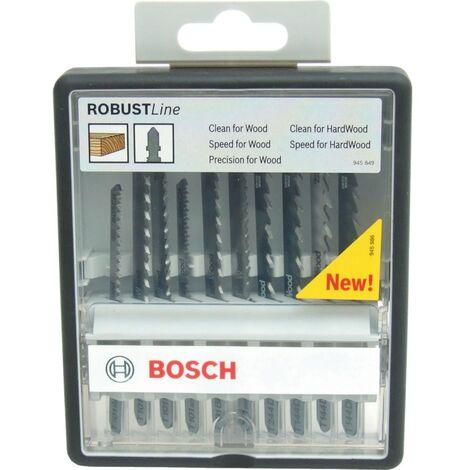 Bosch 10-piece jigsaw blade set basic pour le bois 2607010629