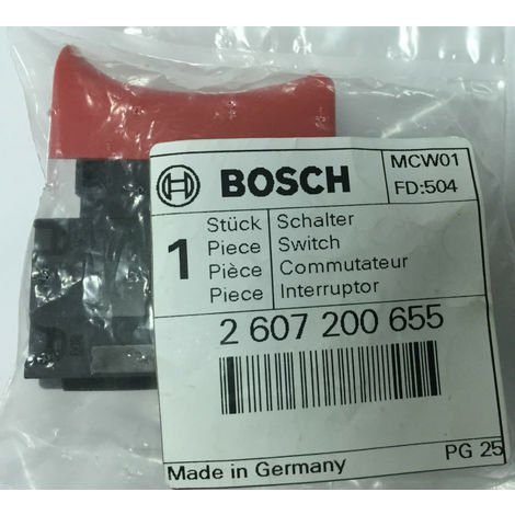 2607200655 BOSCH Switch for PSB 500, PSB 550 RE, PSB 530 RA, PSB 500 RE
