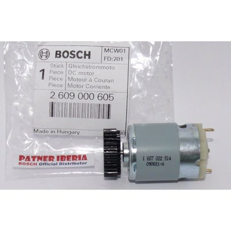 2609000605 BOSCH DC motor para PRIO akku (1607022514)