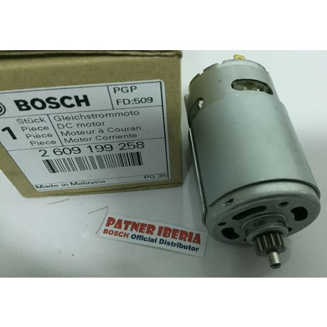 2609199258 DC motor BOSCH (1607022515) (Important Locate your GSR 10,8v bellow)
