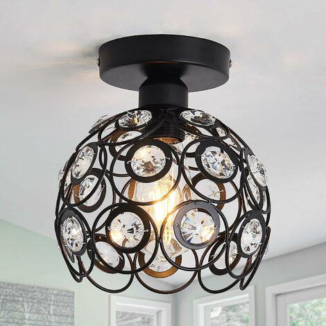 260MM Modern Crystal Chandelier Retro Ceiling Light Vintage Ceiling Lamp for Living Room Bathroom Bedroom Dining Room