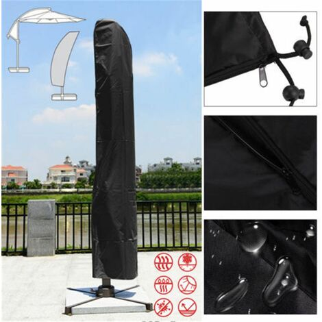 265cm Waterproof Outdoor Garden Beach Umbrella Parasol Cover