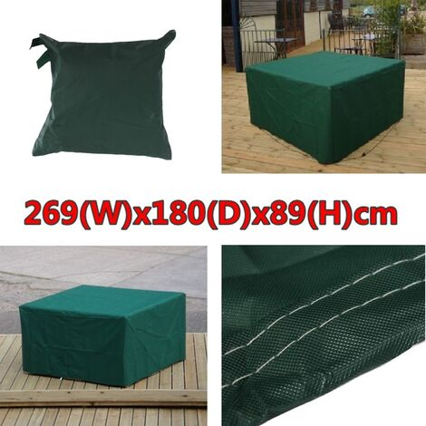 269X180X89 Outdoor Rectangular Waterproof Furniture Cover For Patio Table Chair