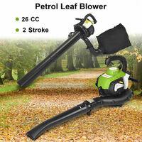 26cc Gasoline 3-in-1 Garden Leaf Blower Vacuum Shredder 8000RPM High Performance