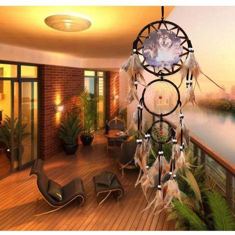 """27 """"Grand Fait Main Dream Catcher Plume Maison Tenture Murale Décoration Ornement"""
