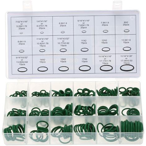 270pcs Kit surtido Coche HNBR Sistema de aire acondicionado Sistema de juntas toricas de aire acondicionado Juego de herramientas, Verde