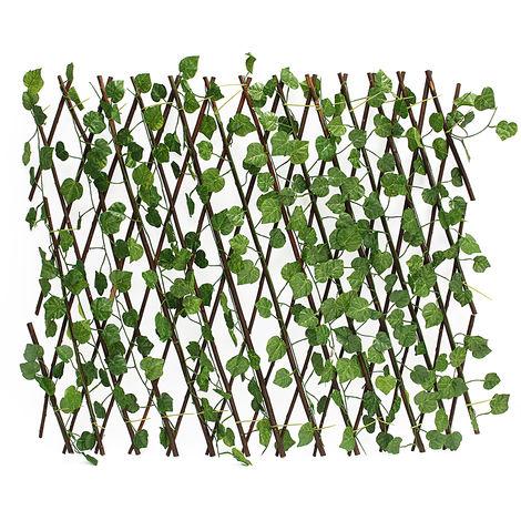 27.5 '' parabrisas artificial cercas pared jardín terraza hiedra partición decoración Hasaki