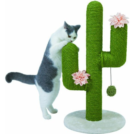 """main image of """"27inch Tall Cat Tree Scratcher Scratching Pet Cat Kitten Bed Post Play Ball Toy"""""""