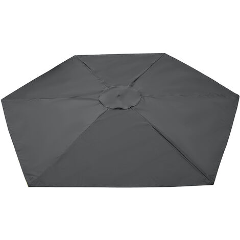 2.7m 6 Arm Replacement Fabric Garden Parasol Canopy Cover Waterproof