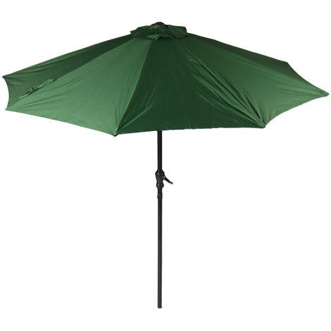 2.7M Garden Parasol Sun Shade Canopy Outdoor Patio Umbrella Green