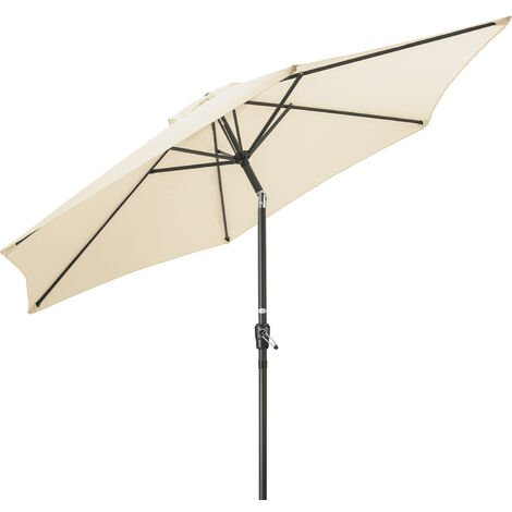 2.7m Tilting Parasol With Crank Handle