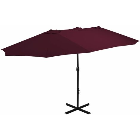 2.7m x 4.6m Rectangular Traditional Parasol by Freeport Park - Red