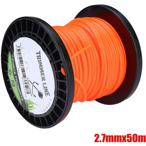 2.7mm Heavy Duty Nylon Round Trimmer Line Brushcutter Rope 50m