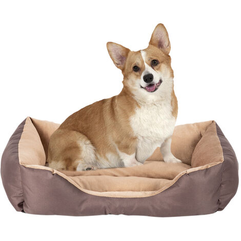 "28"" Large Size Pet Bed Dog Mat Cat Pad Soft PP Cotton Brown"